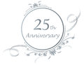25th anniversary design Stock Photos