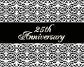 25th anniversary invitation card Royalty Free Stock Images