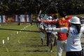 25th UNIVERSIADE - Archery Royalty Free Stock Photo