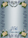25th Wedding Anniversary Invitation Royalty Free Stock Photo