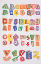 26 letters on color paper Royalty Free Stock Image