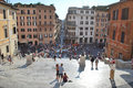 29 august 2009, Rome, Italy. Spanish Steps Stock Photography