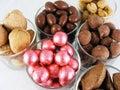 3 candy nuts Στοκ φωτογραφίες με δικαίωμα ελεύθερης χρήσης
