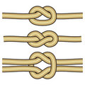 3 different knots Royalty Free Stock Photography