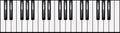3-octave piano keyboard illustration Royalty Free Stock Image