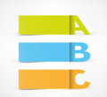 3 Option banners: A, B, C Royalty Free Stock Photo