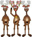 3-reindeer_candy-cane_1 Royalty Free Stock Image