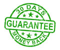 30 Days Money Back Guarantee Stamp Stock Image