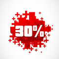 30 percent promotion Royalty Free Stock Photos