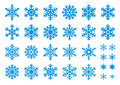 30 Vector Snowflakes Set Royalty Free Stock Image