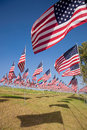 3000 flags in the wind Stock Image