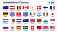 32 Industrialized country flag Royalty Free Stock Photography