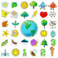 33 cartoon icon clip art collection Stock Photos