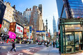 34th Street Manhattan Royalty Free Stock Photos
