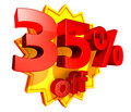 35 percent price off discount Stock Photography