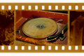35mm frame photo with vintage gramophone Royalty Free Stock Photography