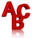 3D abc Royalty Free Stock Photo