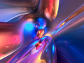 3D Abstract Blue Pink Shiny Colorful Glossy Render Stock Photography