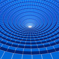 3d abstract blue wired circle background Stock Photography