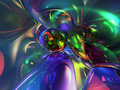 3D Abstract Colorful Glassy Wallpaper Background Royalty Free Stock Photo
