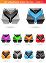 3d Abstract Icon Series - Set 9 Stock Image