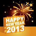 3D, ano novo feliz 2013 Fotos de Stock