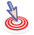 3d arrow on target Stock Photography