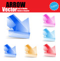 3d  arrows set Stock Photo