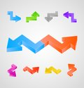 3d arrows vector set Stock Photo