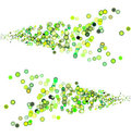 3d balls in multiple shades of green Royalty Free Stock Photo