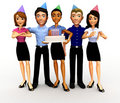 3D birthday celebration Stock Images
