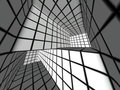 3d black and white tiled labyrinth Royalty Free Stock Photography