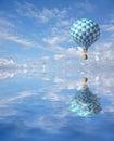 3d blue-white checker balloon Royalty Free Stock Photo