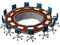 3D Boardroom perspective Royalty Free Stock Photos