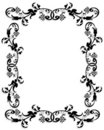 3D border frame black Royalty Free Stock Images