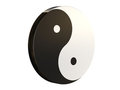 3D and brown Yin Yang Royalty Free Stock Images