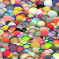 3d bubble balls backdrop in multiple bright colors Royalty Free Stock Photo