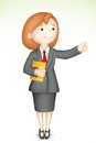 3d Business Lady in Vector Royalty Free Stock Photo