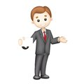 3d Business man in Vector Royalty Free Stock Photography