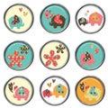3D Buttons - Elephants Stock Photos