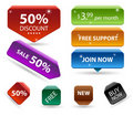 3d buttons, price tags. Royalty Free Stock Photo