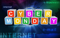 3d buzzword text cyber monday Stock Image