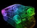 3d car wire Stock Photography