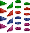 3D charts Royalty Free Stock Images