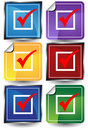 3D Checkmark Sticker Set Stock Photo