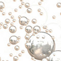 3D Chrome Bubbles Royalty Free Stock Photography