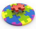 3d circular shape puzzle Stock Photos