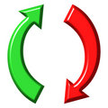 3d circular up and down arrows Royalty Free Stock Images