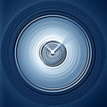 3d clock background Royalty Free Stock Images