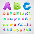 3d color font Royalty Free Stock Photo